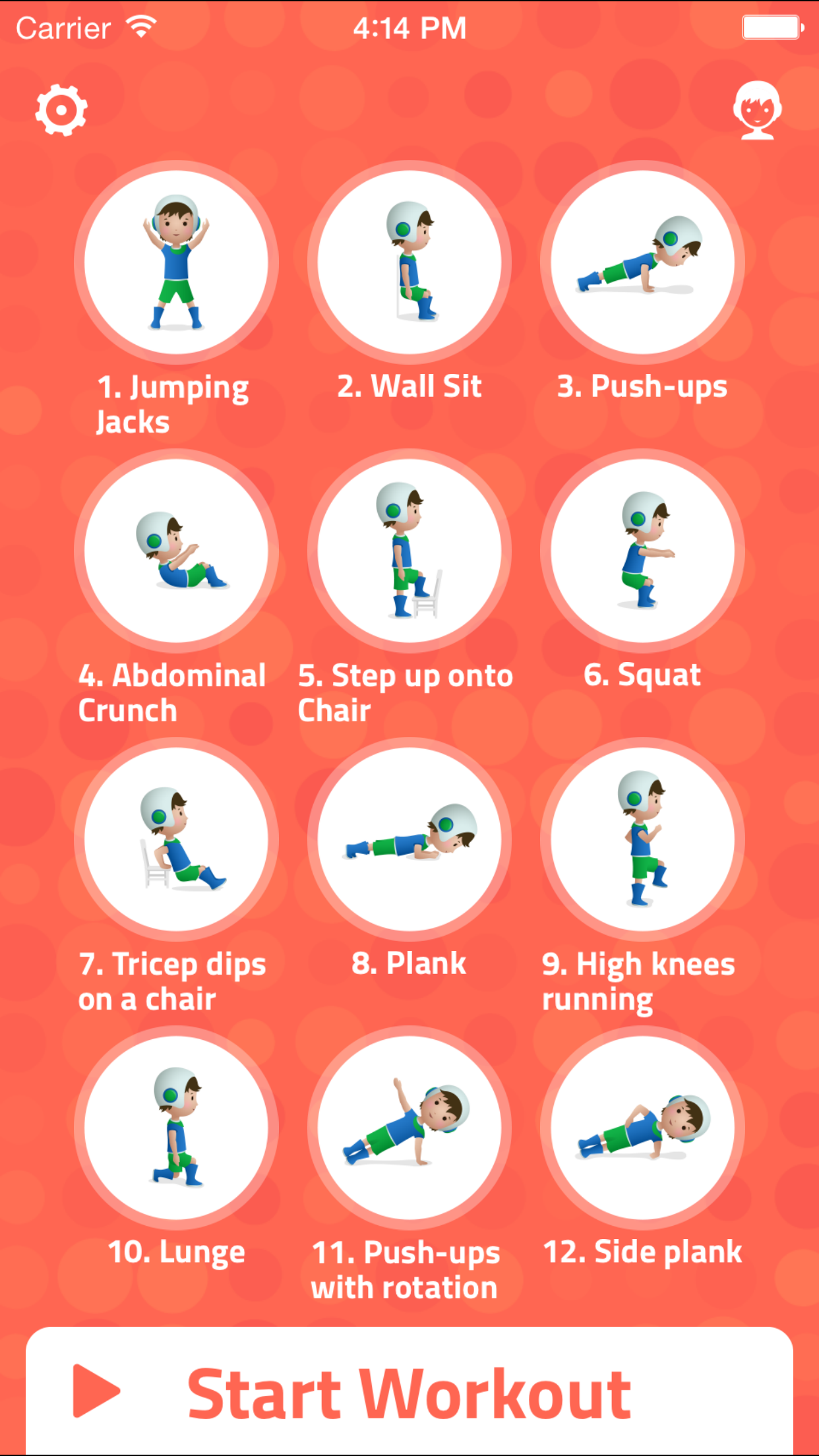 7 Minute Workout for Kids App