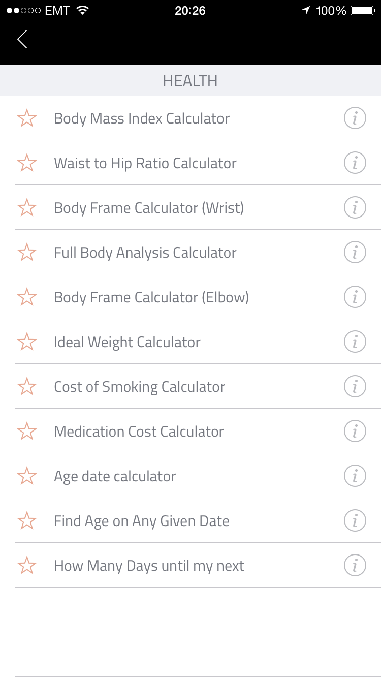 Exact Fitness Calculator App