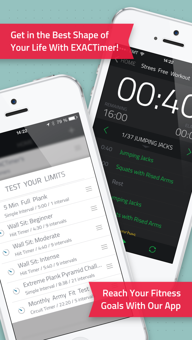 exact fitness timer screenshot
